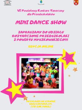 VI POWIATOWY KONKURS TANECZNY DLA PRZEDSZKOLAKÓW MINI DANCE SHOW-ONLINE